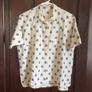 Madewell Courier Shirt with floral embroidery EUC